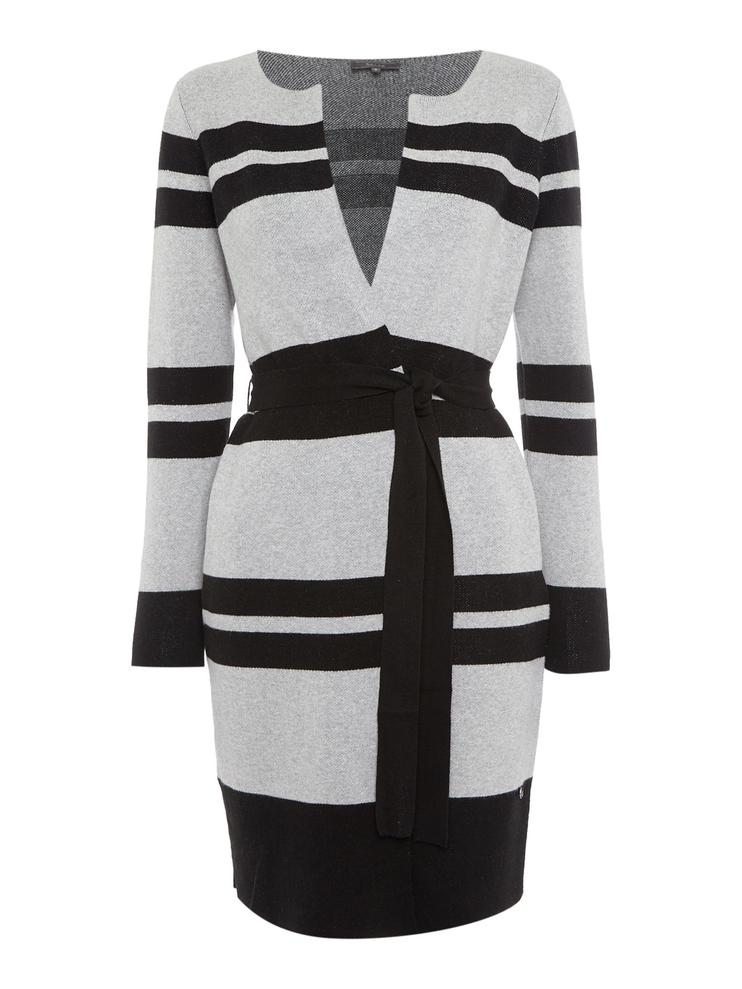 Nilo Stripe Knitted Jacket, Black
