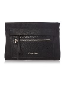 Calvin Klein Cecile black small clutch bag