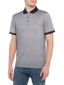 Michael Kors Slim fit mosaic print polo shirt