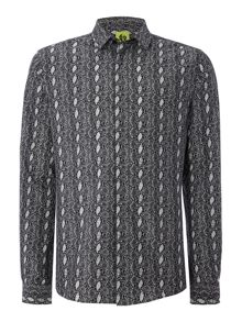 Noose and Monkey Long Sleeve Snake Print Shirt