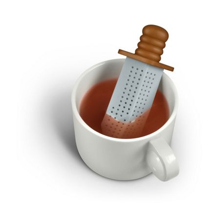 Fred Silicone Tea Infuser Strong Brew Sword Design