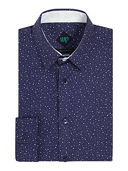 Long Sleeve Spot Print Shirt