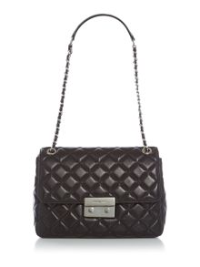 Michael Kors Sloan black extra large fold over bag