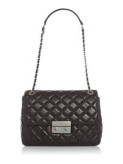 Sloan black extra large fold over bag