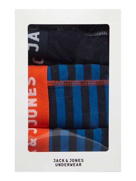 Jack & Jones 3 Pack Jacchester Stripe And Piping Trunk