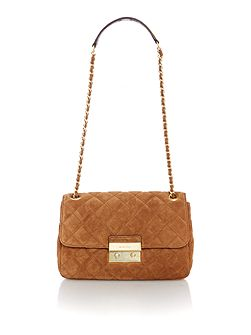 Sloan tan large fold over bag
