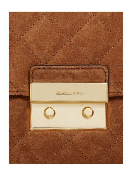 Michael Kors Sloan tan large fold over bag