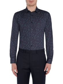 WP Long Sleeve Floral Print Shirt