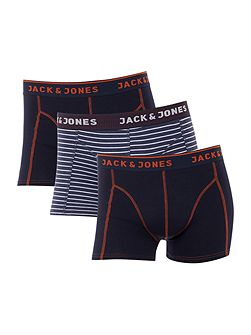 3 Pack Stripe and Piping Trunks