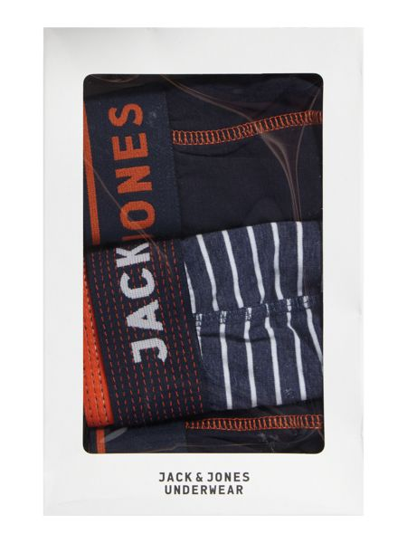 Jack & Jones 3 Pack Stripe and Piping Trunks