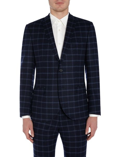 WP Notch Lapel Windowpane Check Jacket
