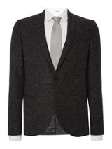 Viggo and Magnus Shawl Collar Skinny Fit Black Fleck Jacket