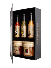 Edinburgh Preserves Blazing hot sauces set of 5