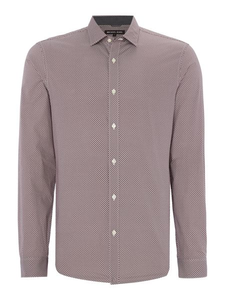 Michael Kors Slim fit diamond printed long-sleeve shirt