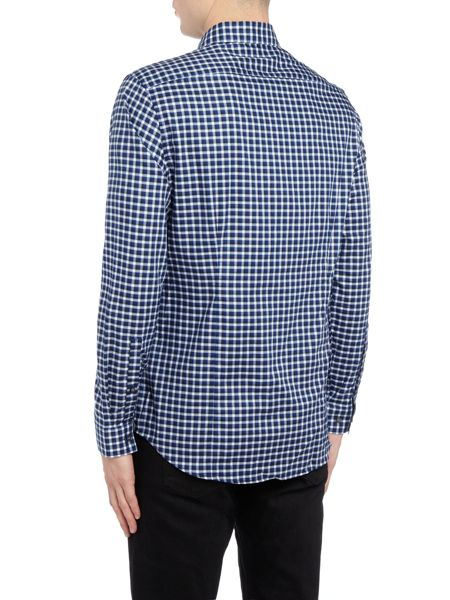Michael Kors Slim fit checked long-sleeve shirt