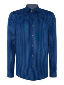 Michael Kors Slim fit gingham checked long-sleeve shirt