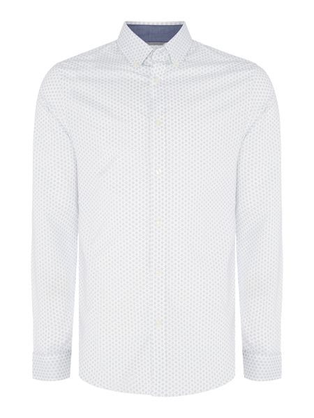Michael Kors Slim fit diamond geo printed long-sleeve shirt