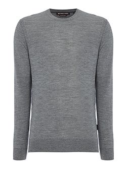 Merino crew neck knitted jumper