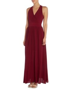Wal-G Halter Neck Open Back Maxi Dress