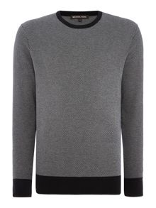 Michael Kors Jacquard knitted crew neck jumper