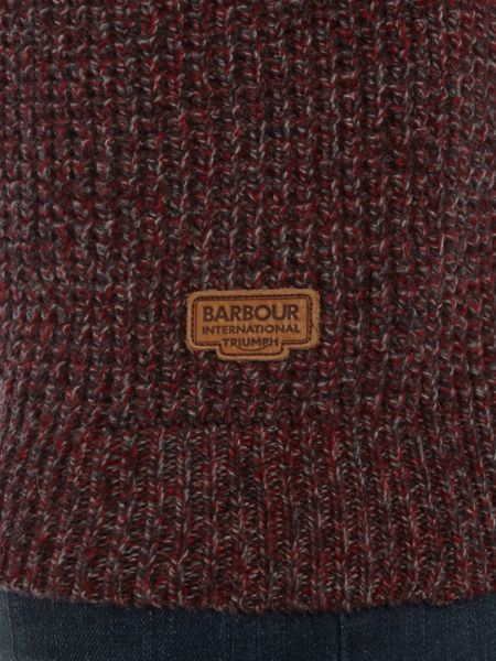 Barbour Triumph transmission textured marl crew