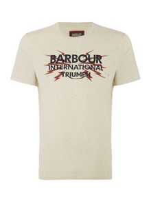 Barbour Triumph bolt logo crew neck tee