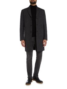 Michael Kors Long line donegal knitted wool coat