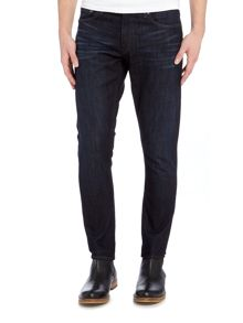 Michael Kors Rivington skinny fit indigo dark wash jeans