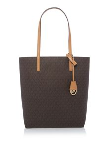 Michael Kors Hayley brown large tote bag