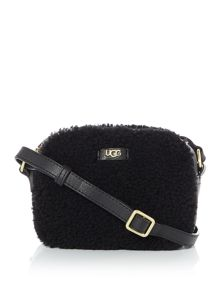 UGG Claire black zip crossbody bag