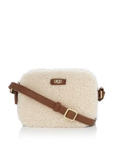 UGG Claire tan zip crossbody bag