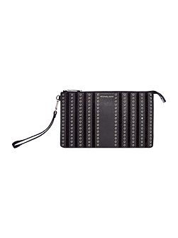 Brooklyn Grommet black wristlet clutch bag