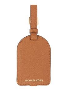 Michael Kors Tan luggage tag