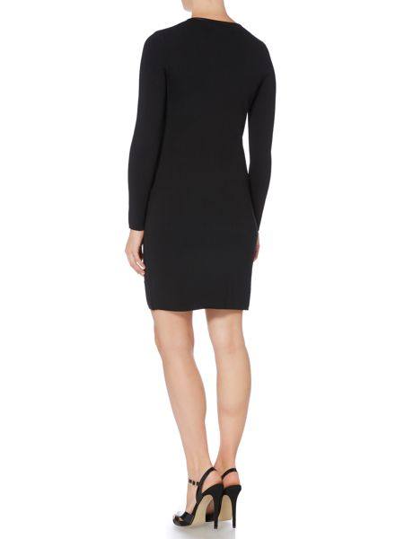 Lauren Ralph Lauren Zip front long sleeve dress