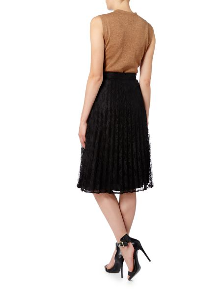 Linea Pleated lace skirt