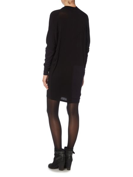 Label Lab Cowl neck rib knit dress