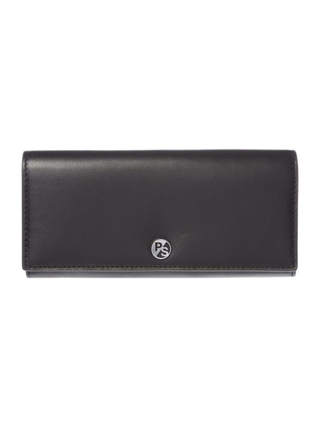 Paul Smith London Heart black large flapover purse