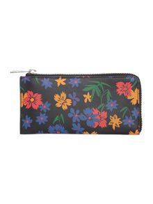 Paul Smith London Floral multicolour large ziparound purse