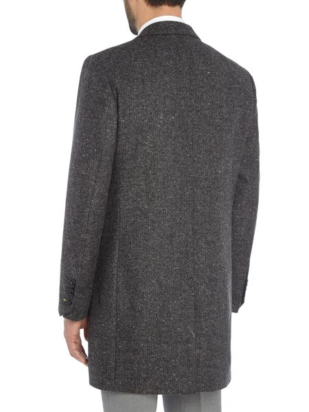 Noose and Monkey Hinton Herringbone Wool Overcoat Coat