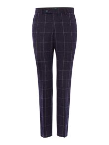 WP Slim Fit Flannel Windowpane Check Trousers