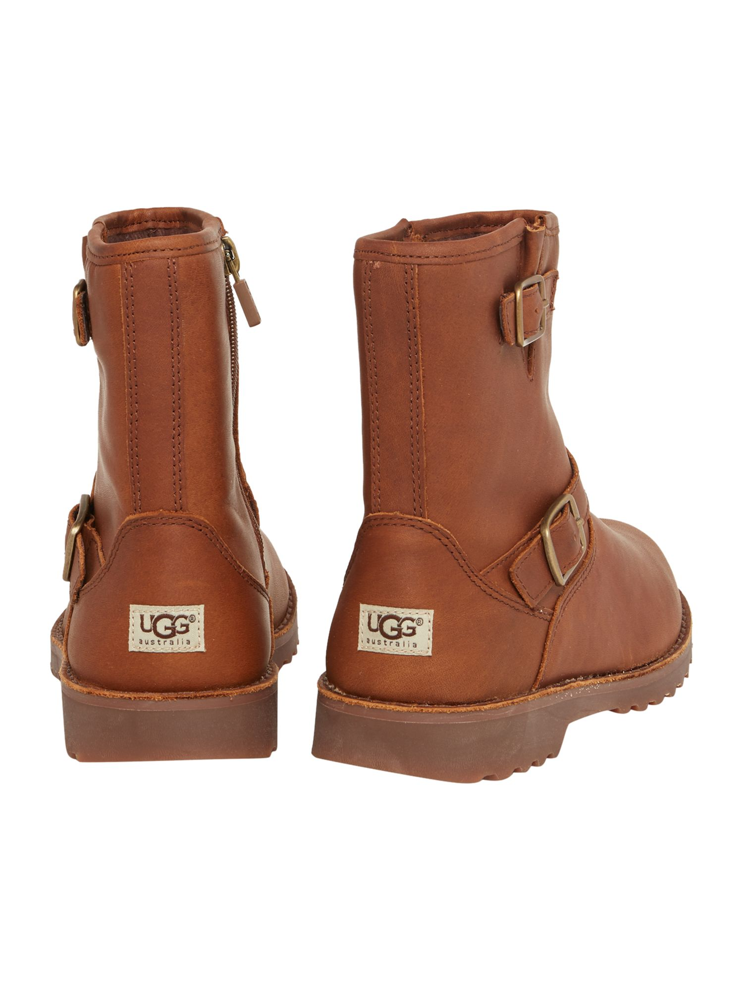 Brave the outdoors in UGG boots that can fit over or be tucked into pants or try a pair of clogs, moccasins or UGG slippers for casual, comfortable style all year round. Select between UGG's classic boots or others designed with whimsical knit uppers, fur trim, studs and unexpected prints and colors.
