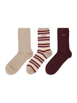 3 pair pack ankle socks gift box