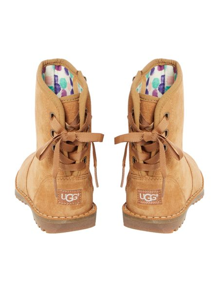 UGG Girls Suede Lace Back Boot