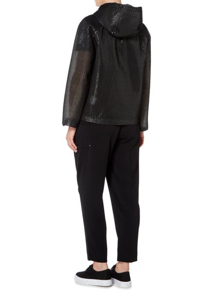 Sportmax Code mesh jacket with front pockets and hood