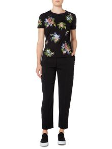 Sportmax Code Jersey t-shirt with embroidered floral pattern
