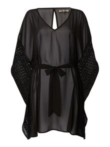 Biba Crochet trim cover up
