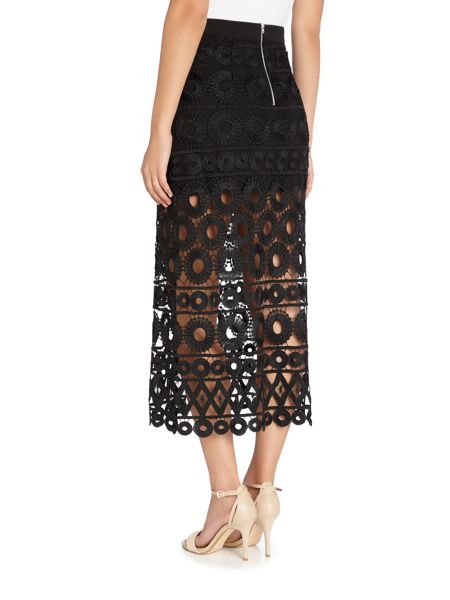 Endless Rose Embroidered Detail Midi Skirt