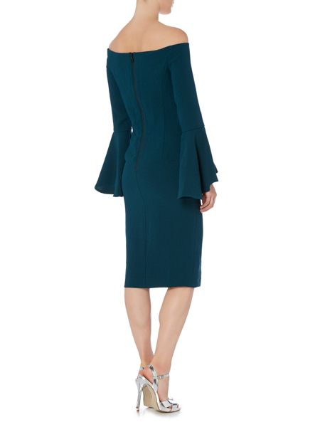 Bardot Long Sleeved Bell Sleeve Bodycon Dress