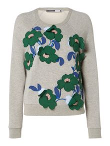 Sportmax Code Knitted sweatshirt with embellished flowers