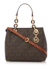 Michael Kors Cynthia brown small tote bag